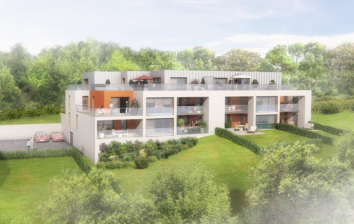 R sidence les terrasses mont saint aignan atome promoteur for Piscine mont saint aignan